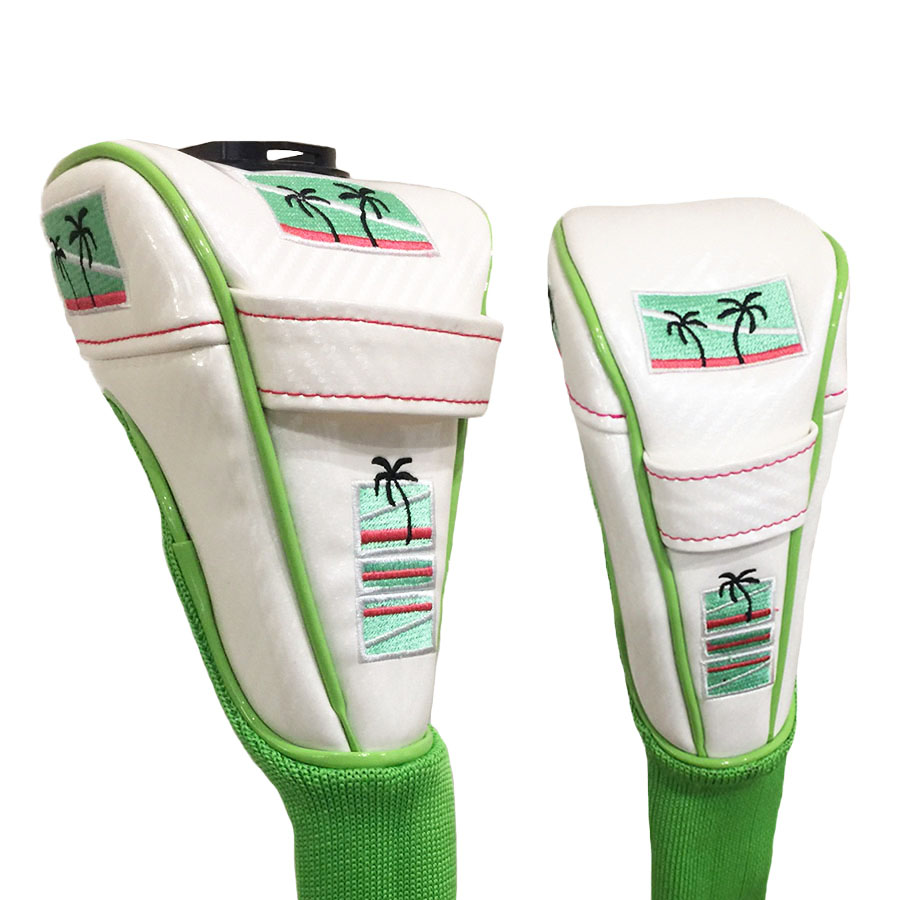"Swing Snap ""SELF-V"" Headcover - Beach Combo White"