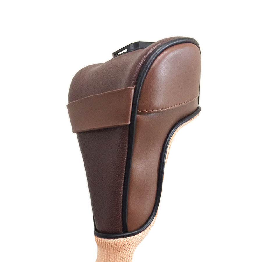 "Swing Snap ""SELF-V"" Headcover - Leather Cognac"