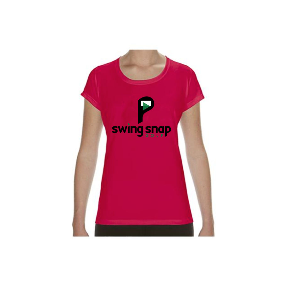 Dry Fit T Shirt Ladies Swing Snap Golf